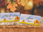 Personalized Fall Watercolor Scenery Party Place Cards Seating Cards Escort Cards