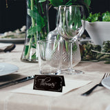 Personalized Black Modern Wedding Place Cards with White Rim Seating Cards Escort Cards
