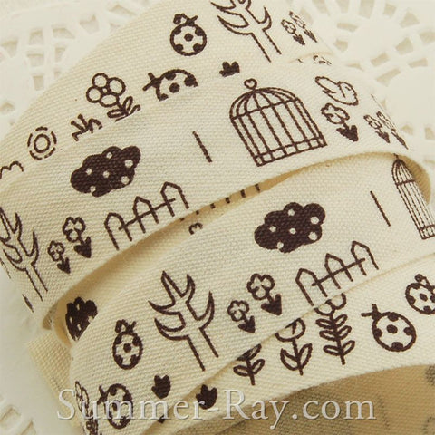 Printed Cotton Ribbons 16, 20 and 25 mm
