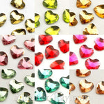 Rhinestones 10mm Prism Cut Heart - 100 pieces