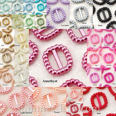 Pearl Rectangle Buckles/Ribbon Sliders - 50 or 1000 pieces