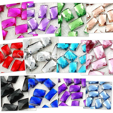 Rhinestones 4mm x 6mm Rectangle - 500, 2000 or 5000 pieces