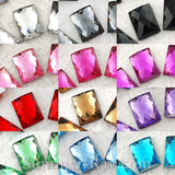 6 x 8 mm Rectangle Rhinestones