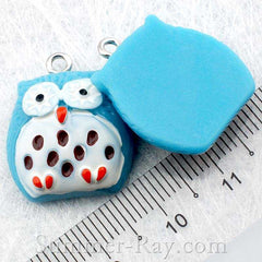 Cabochon Resin Spotted Owl with Eye Bolt