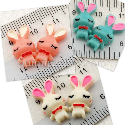 Cabochon Resin Sleeping Bunny