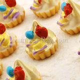 Cabochon Resin Cream Tart