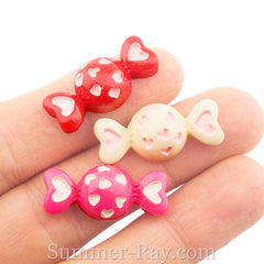 Cabochon Resin Heart Candy