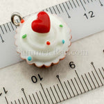 Cabochon Resin Vanilla Cupcake with Eye Bolt