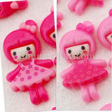 Cabochon Resin Doll in Flower Dress