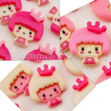 Cabochon Resin Doll with Crown
