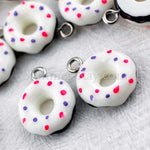 Cabochon Resin Sprinkled Donut with Eye Bolt