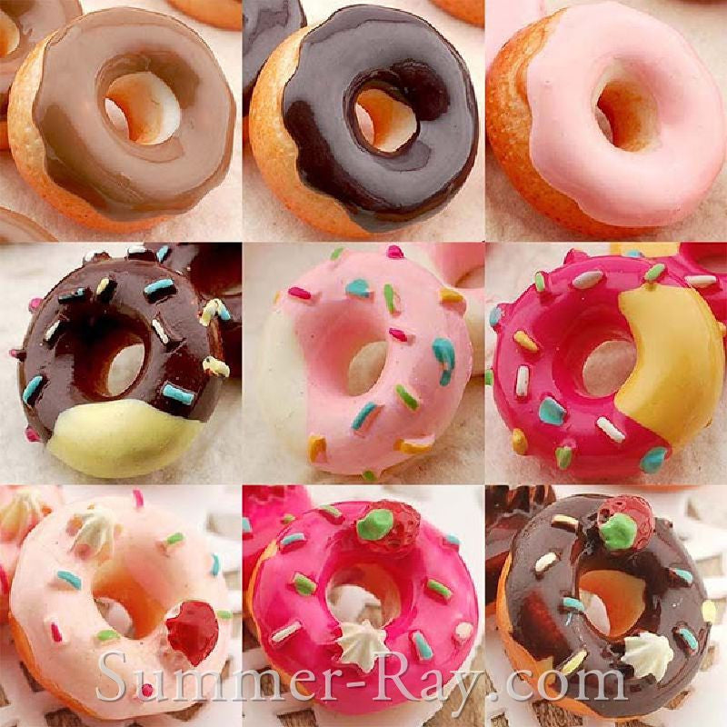 Cabochon Resin Mixed Donuts