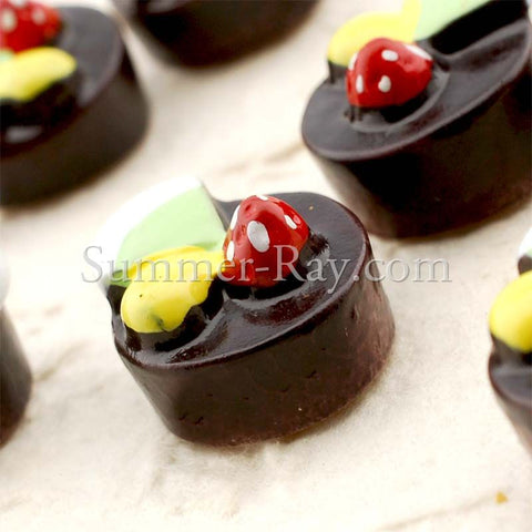 Cabochon Resin Chocolate Fruit Cake