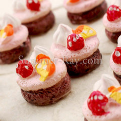 Cabochon Resin Creamy Fruit Cake