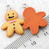 Cabochon Resin Gingerbread Man with Eye Bolt