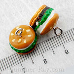 Cabochon Resin Mixed Owl/Burger/Ice Cream/Heart/Strawberry/Gingerbread/Pencil/Candy with Eye Bolt