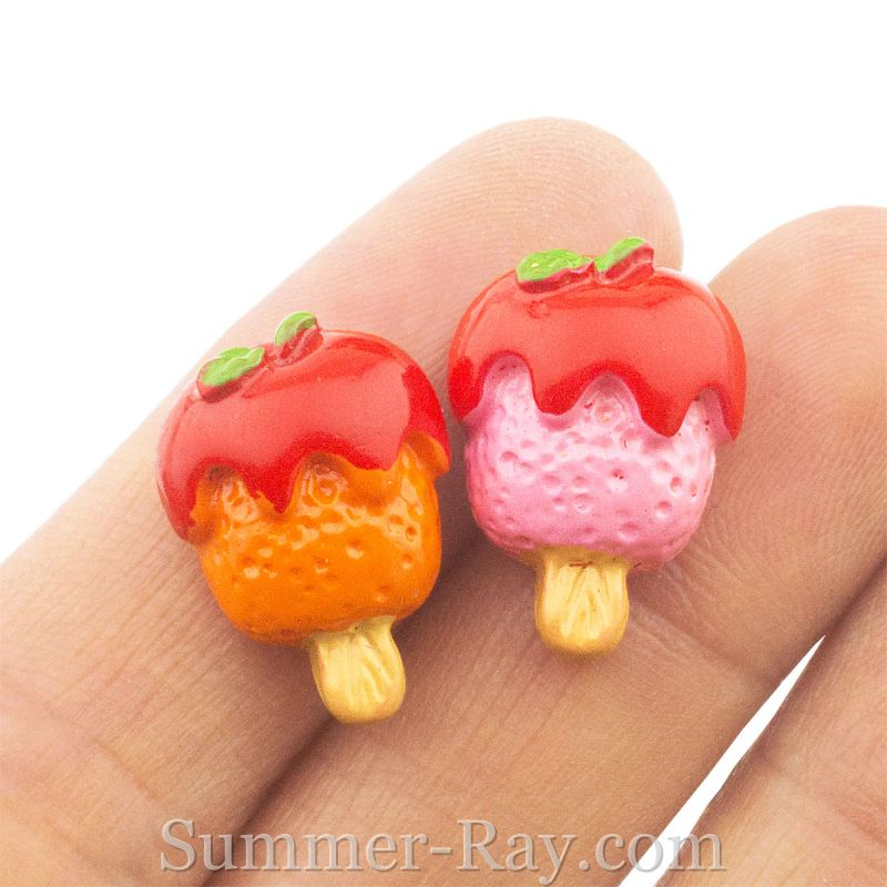 Cabochon Resin Strawberry Sauce Popsicles