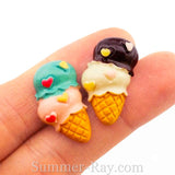 Cabochon Resin Double Scoop Ice Cream