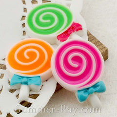 Cabochon Resin Technicolor Lollipop