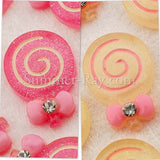 Cabochon Resin Lollipop with Rhinestone