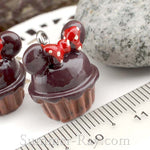 Cabochon Resin Cartoon Cupcake with Eye Bolt