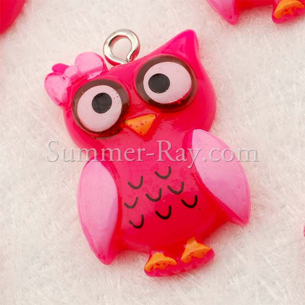Cabochon Resin Owl with Eye Bolt
