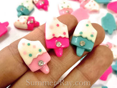 Cabochon Resin Popsicle with Rhinestone