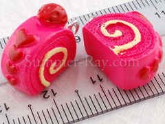 Cabochon Resin Mixed Cupcake/Ice Cream/Rolled Cake/Lollipop/Chocolate/Ladybug with Eye Bolt