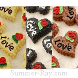 Cabochon Resin Heart Sandwich Cookies