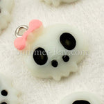 White Skull Head with Bow