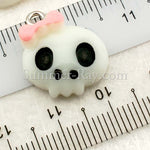 Cabochon Resin Skull Head with Eye Bolt