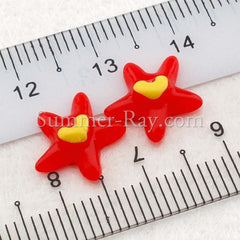 Cabochon Resin Starfish with Heart