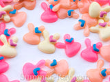 Cabochon Resin Mini Bunny with Heart