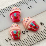 Cabochon Resin Mini Raspberry Sundae