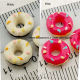 Cabochon Resin Sprinkled Donuts