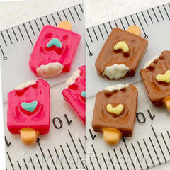 Cabochon Resin Popsicle with Heart