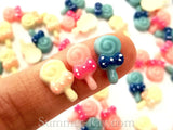Cabochon Resin Polka Dot Bow Lollipop
