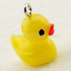 Cabochon Resin Rubber Ducky with Eye Bolt
