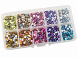 Rhinestones 4mm AB Mixed Color in Storage Box - 2000 pieces