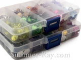 Rhinestones 10mm Mixed Color in Storage Box - 300 or 600 pieces