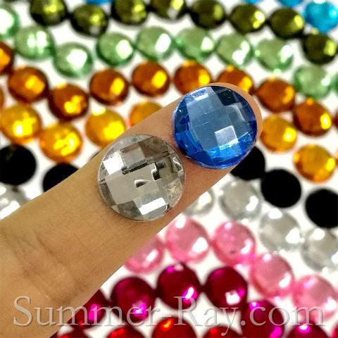 Rhinestones 12mm Globe Cut - 50, 500 or 1000 pieces
