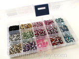 Rhinestones 2.5mm Mixed Color in Storage Box - 9800 pieces