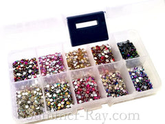 Rhinestones 3mm AB Mixed Color in Storage Box - 2000 pieces