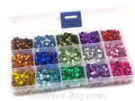 Rhinestones 5mm Mixed Color in Storage Box - 4500 pieces