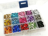 Rhinestones 6mm Mixed Color in Storage Box - 1800 pieces