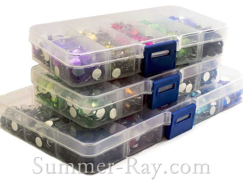 Rhinestones 7mm Mixed Color in Storage Box - 1000 or 1500 pieces