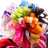 16 Ounce (450g) Grosgrain Ribbon Mixed Colors Plain/Printed DIY Craft Sewing Bow Making