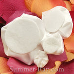 Miniature White Satin Roses Mixed Size - 40 pieces