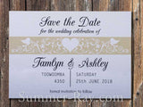 Personalized White Forever Love Save the Date Card with Envelope