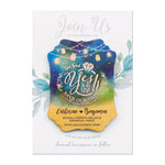 Personalized Wooden Save the Date Magnet Wedding Invitation with Cards & Envelopes She Said Yes to His Love